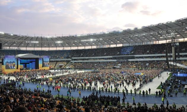 Агроном НСК Олімпійський розказав про стан газону після дебатів