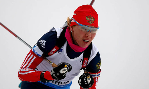 Російську біатлоністку відсторонили від змагань