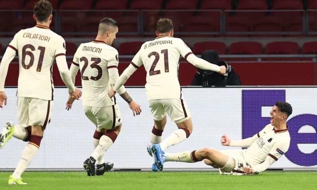 Рома обіграла Аякс, Славія вирвала нічию в Арсенала у чвертьфіналі Ліги Європи
