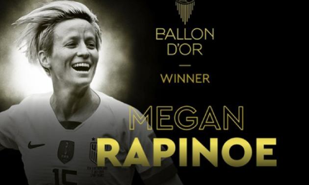 Рапіноу стала найкращою футболісткою світу