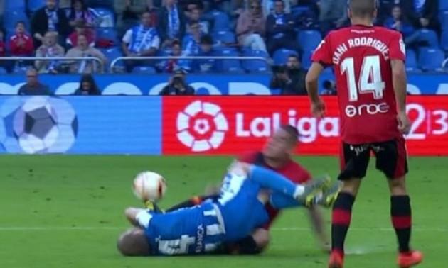 Іспанський гравець завдав суперникові серйозну травму і розплакався