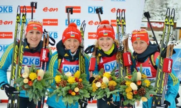 Збірна України назвала склад на жіночу естафету Кубка світу в Естерсунді