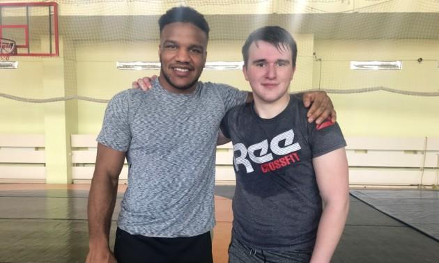 Беленюк провів тренування з фанатом