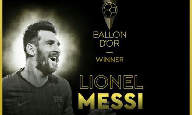 Мессі став володарем Золотого м'яча-2019
