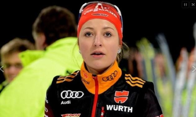 Німецька біатлоністка завершила кар'єру в 25 років