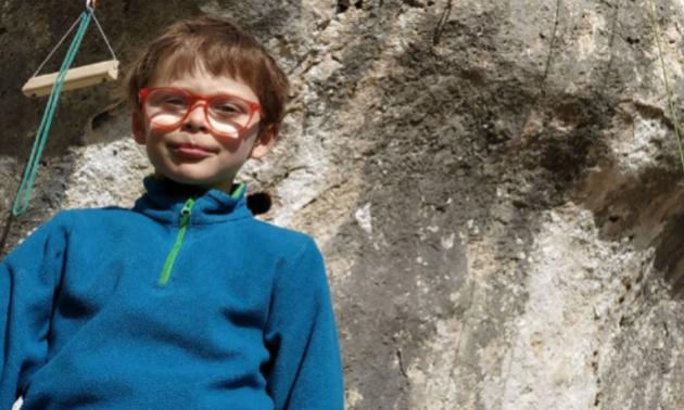 8-річний хлопчик встановив унікальний світовий рекорд у скелелазінні