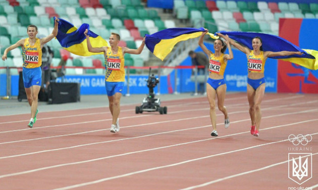 Українські легкоатлети здобули ще одну золоту нагороду на Європейських іграх