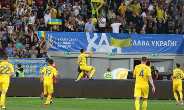 Збірна України провела перше тренування на Дніпро-арені