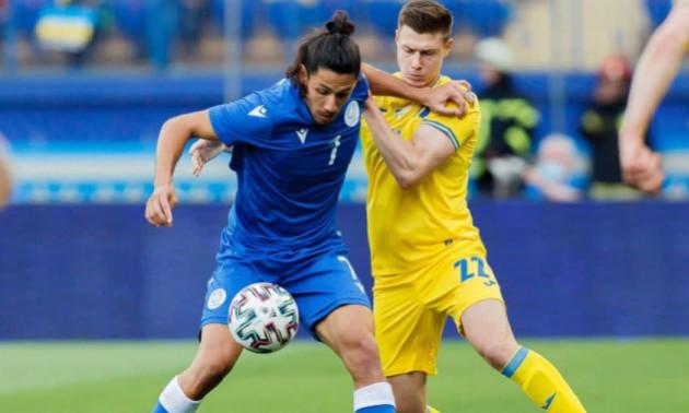 Збірна України знищила Кіпр у контрольному матчі