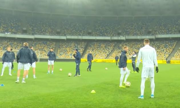 Збірна України провела офіційне передматчеве тренування на Олімпійському
