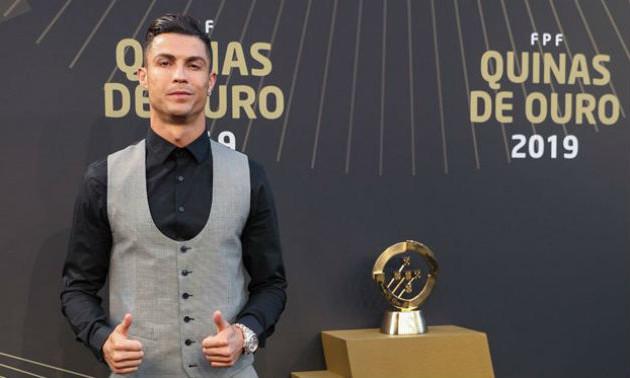 Роналду в десятий раз став гравцем року у Португалії