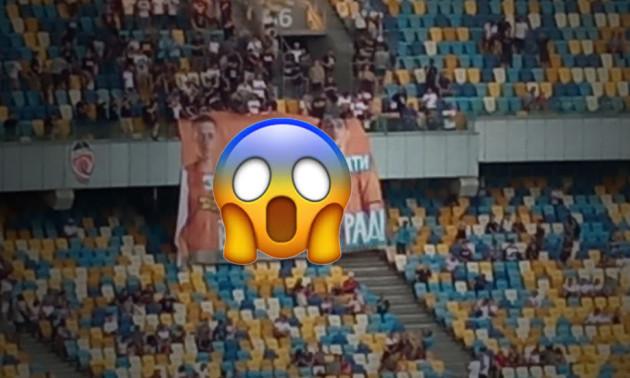 Ультрас Динамо вивісили ганебного банера на адресу Шахтаря