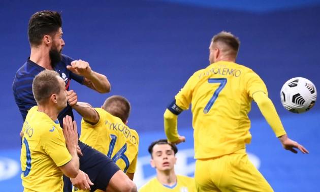 Франція знищила збірну України у товариському матчі