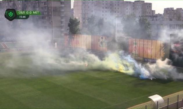 Матч Першої ліги призупиняли через дії фанатів