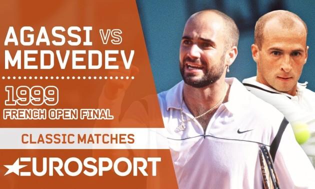За крок до тріумфу: п'ятисетовий трилер у фіналі Roland-Garros 1999 Медведєв - Агассі