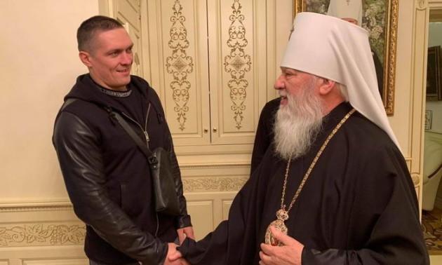 Усик попросив благословіння у митрополита Московського патріархату. ФОТО