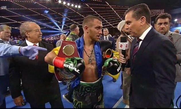 Ломаченко впевнено переміг Педрасу та об'єднав пояси WBA і WBO