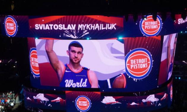 Михайлюк зіграв матч висхідних зірок НБА у кросівках з гербом України