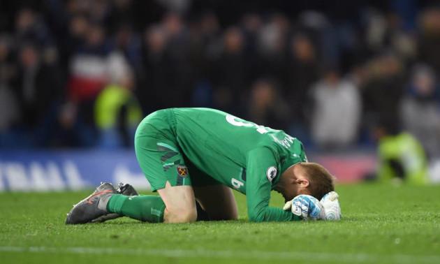Голкіпер Вест Гема розридався після вдалого дебюту за клуб