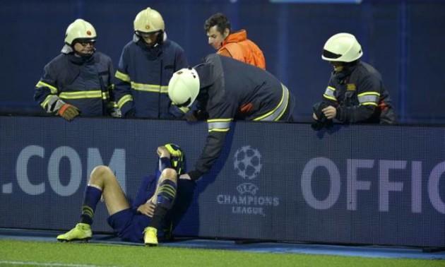 Гравець Динамо розридався після матчу з Шахтарем - його втішали пожежні