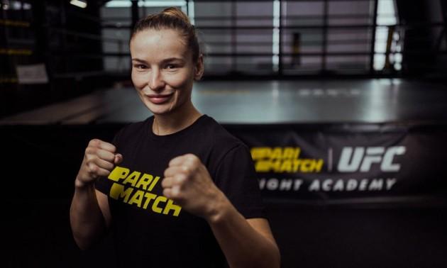 Перша українка в UFC увійшла в команду Parimatch TEAM