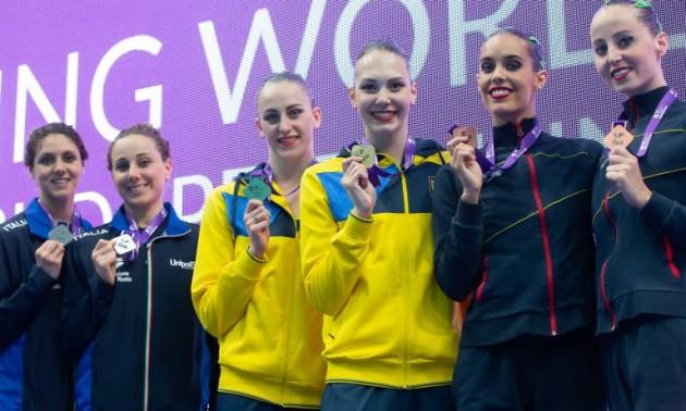 Українські синхроністки завоювали три золота у Світовій серії FINA
