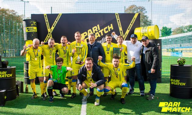 У Києві відбувся перший турнір з міні-футболу серед спортивних  журналістів Parimatch media cup