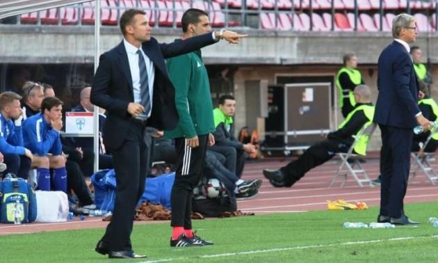 Шевченко вийшов на перше місце в рейтингу тренерів збірної України