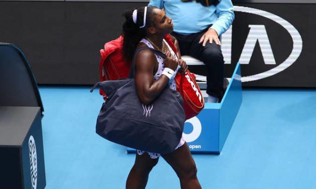 Вільямс вилетіла з Australian Open