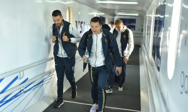 Збірна України успішно прибула до Сербії