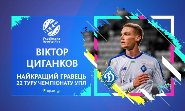 Циганков став найкращим гравцем 22 туру УПЛ