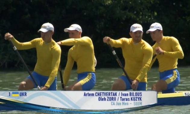 Українська четвірка каноїстів завоювала срібло на юніорському чемпіонаті світу