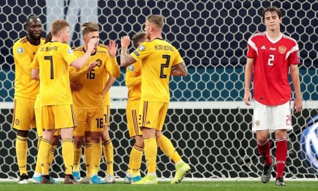 Євро-2020. Бельгія - Росія 3:0. Як це було