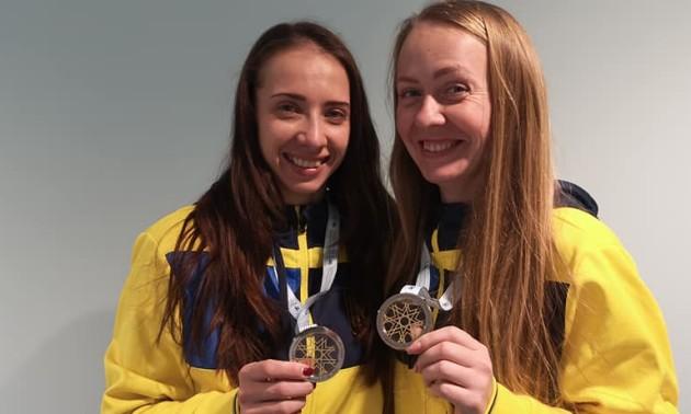 Українки вибороли срібло на етапі Кубка світу зі стрибків на батуті