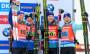 Квіткова церемонія після бронзової для України естафети на чемпіонаті світу